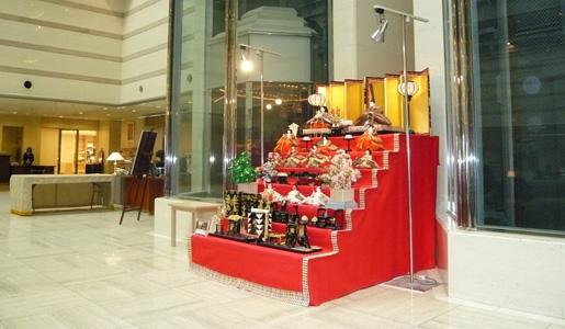 安藤人形店の雛人形を京都ブライトンホテルに展示年