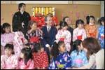 沖縄の幼稚園での様子