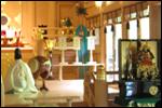 貴船神社の神殿に五月人形を展示