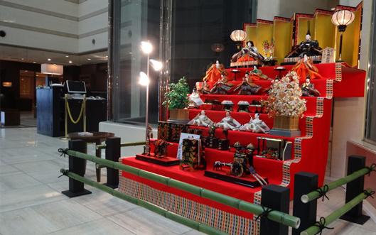 京都ブライトンホテル「雛人形 展示」
