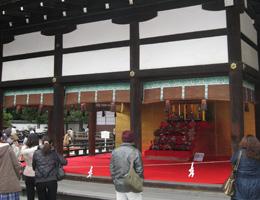 安藤人形店の雛人形を下鴨神社に展示