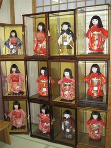 市松人形 安藤人形店展示