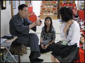 安藤人形店 タイ全国公共放送局「わびさび」取材2