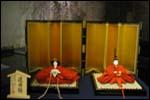 柊家さんでの還暦雛の展示