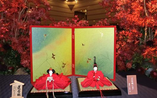 京都ブライトンホテルに還暦雛
