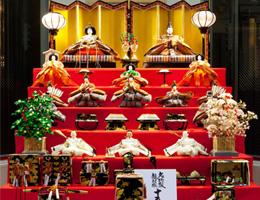 安藤人形店の雛人形を京都ブライトンホテルに展示