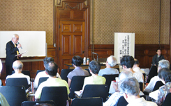 京都府庁で講義