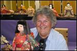 南アフリカから市松人形の体験