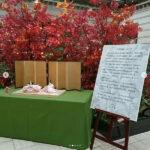 京都ブライトンホテルでピンクのおひさまを展示